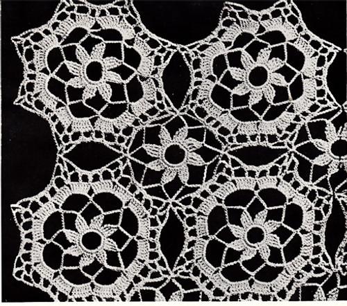 Tudor Crochet Medallion Pattern, Vintage 1960s