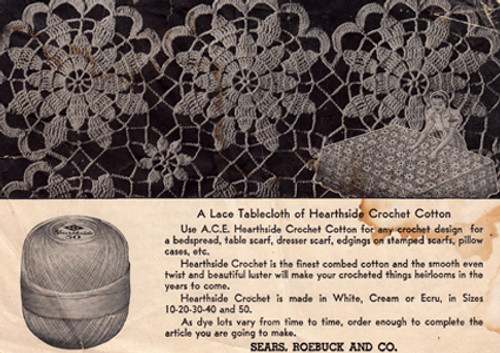 Crocheted Lace Tablecloth Pattern