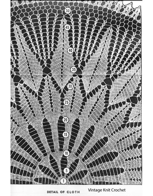 Star Tablecloth Crochet Pattern Illustration