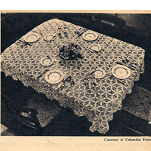 Vintage 1940s Crochet Lace Tablecloth Pattern
