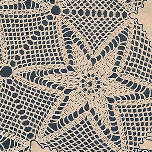 Crochet Star Medallion Bedspread Pattern from Workbasket