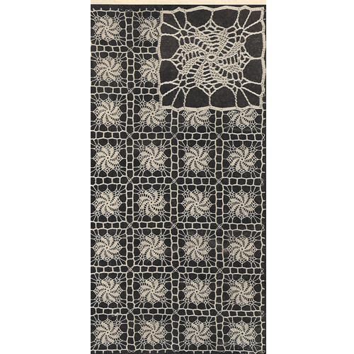 Crochet Pinwheel Medallion Runner Pattern