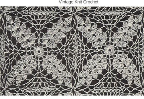 Crocheted Wheat Motif Square Pattern