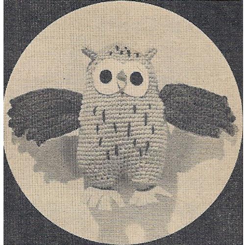 Workbasket Crocheted Owl Pattern