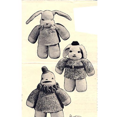 Crochet Clown and Rabbit Pattern