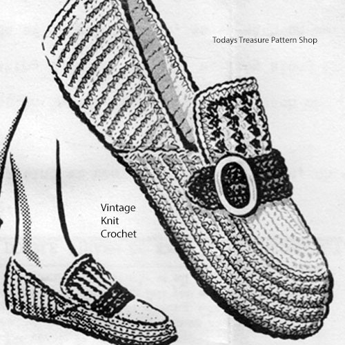 Crochet Moccasins Pattern, Anne Cabot 5255