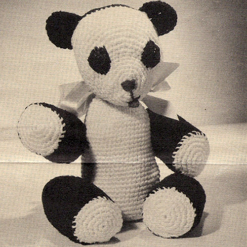 Vintage 1940s Crochet Bear Pattern