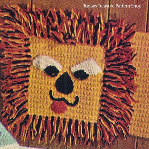 Childs Crochet Lion Rug Pattern