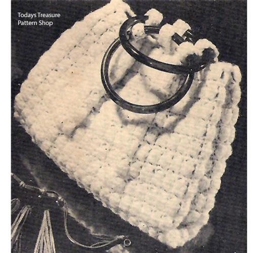 Crochet Handbag in Shell Stitch Pattern