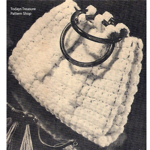 Crochet Handbag in Shell Stitch Pattern
