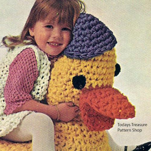 Crocheted Stuffed Duck Pattern