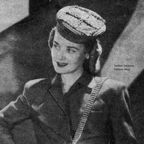 Easy Crochet Pillbox Hat Pattern, Vintage 1940s