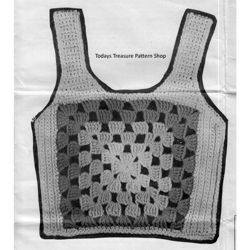 Crochet Medallion Vest Pattern Design 959