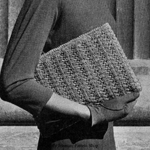 Easy Crochet Envelope Clutch Pattern