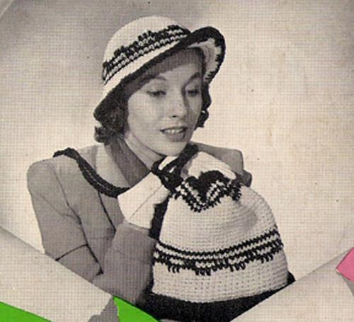 Crochet Brimmed Hat Pattern, Vintage 1960s