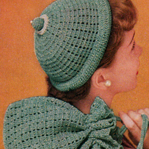 Crochet Cap Pattern with Pearl Trim