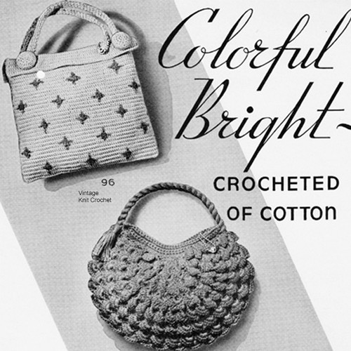 Crochet Square Polka Dot Purse Pattern with Short Handle