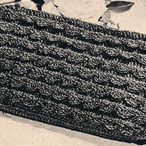 Vintage 1940s Scalloped Envelope Clutch Bag