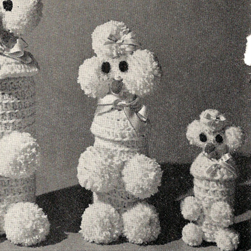 Poodle Crochet Patterns in Loop Stitch