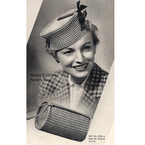 Vintage 1930s Crochet Pillbox Hat Pattern