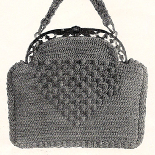 Crochet Handbag Pattern, Hillcrest in Gimp