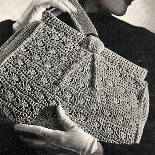 Vintage Crochet Shell Handbag Pattern