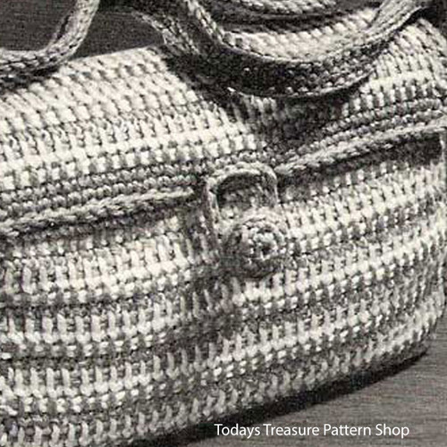 Crocheted Satchel Bag Pattern in Stripes