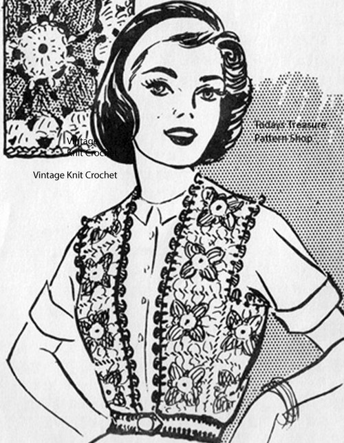 Crochet Belted Granny Vest Pattern, Martha Madison 1118
