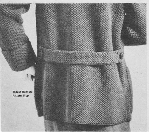 Back Crochet Coat Button Band