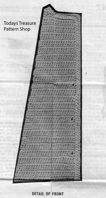 Crochet Coat Illustration of pattern stitch