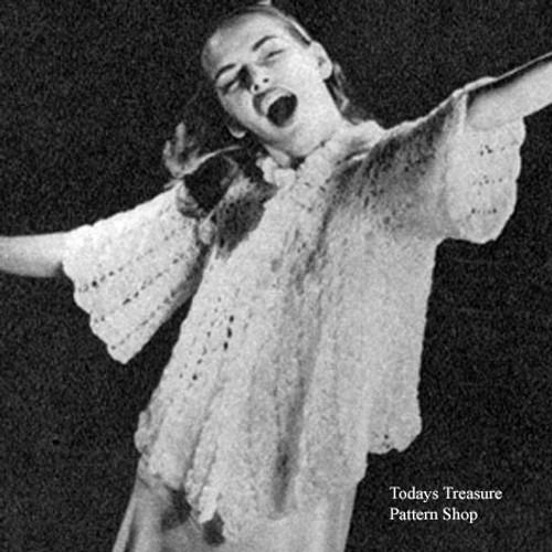 Vintage Crochet Lace Bed Jacket Pattern
