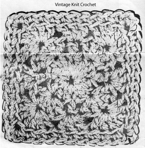 Crochet Square for Granny Jacket No 5060