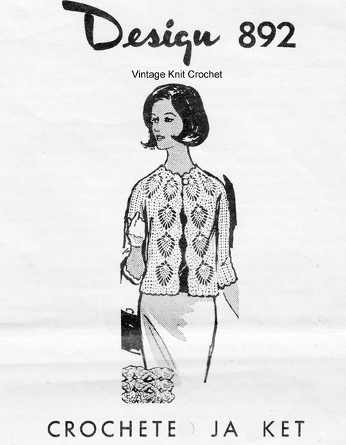Pineapple Jacket Crochet Pattern, Mail Order 892