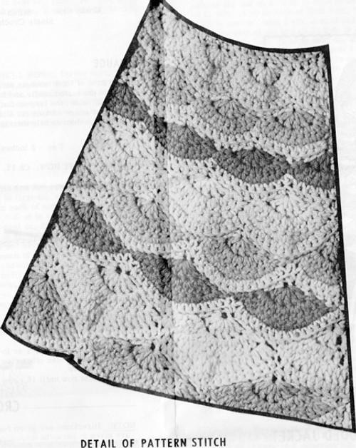Shell Pattern Stitch for Crochet Coat Pattern