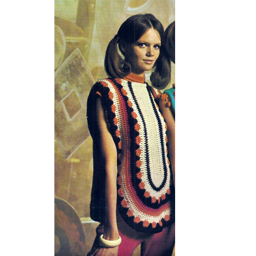 Vintage Crochet Tabbard Top Pattern with Spanish Flair