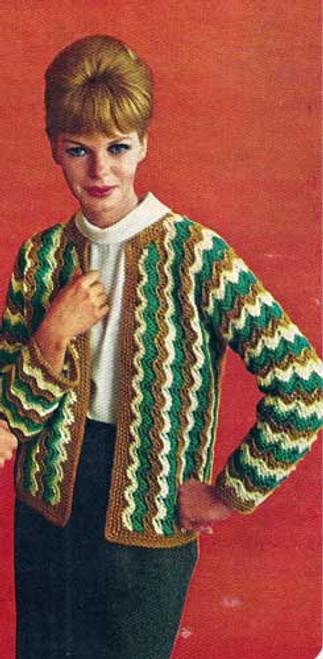 Ripple Striped Jacket Crochet Patternn
