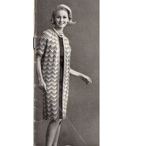 Knee Length Crochet Ripple Coat Pattern
