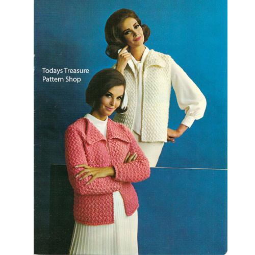 Crochet Columbia Minerva Vintage Vest Pattern