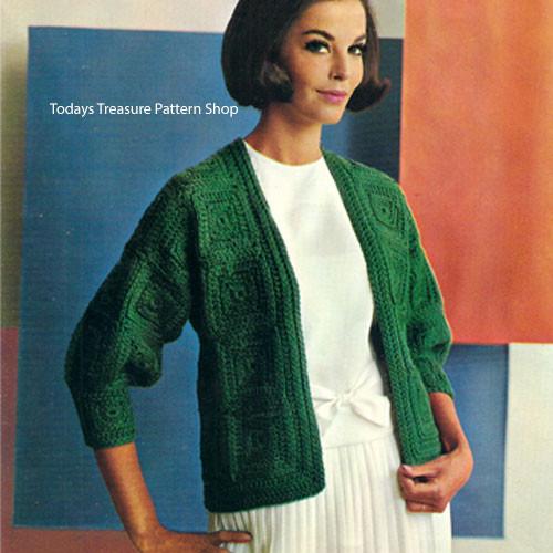 Easy Crochet Squares Cardigan Pattern