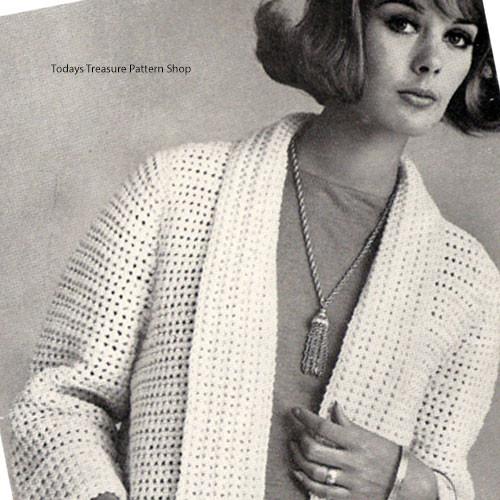 Crochet Cardigan Pattern with Shawl Cardigan