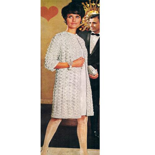 Vintage Knee Length Evening Coat Crochet Pattern