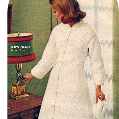 Vintage Coat Pattern, Floor Length