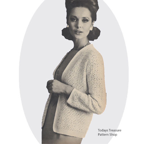 vintage chanel jacket crochet pattern