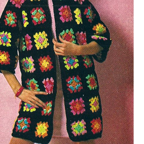 Granny Block Crochet Coat Pattern