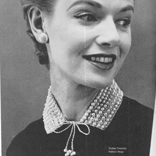 Free Beaded Crochet Collar Pattern