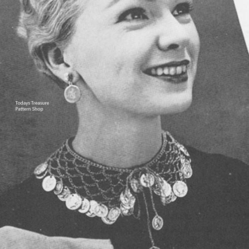 Vintage Trimmed Crochet Collar Pattern
