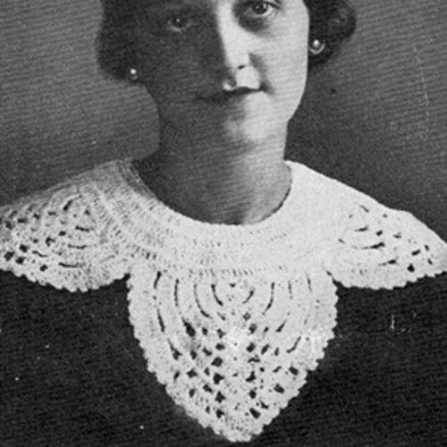 Large Scalloped Collar Crochet Pattern
