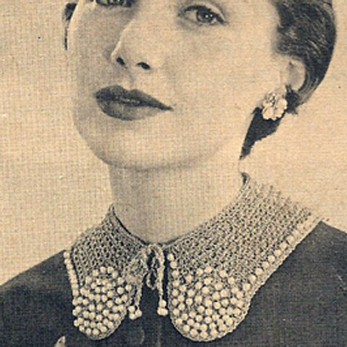 Small Feminine Crochet Collar Pattern with Pear Trim