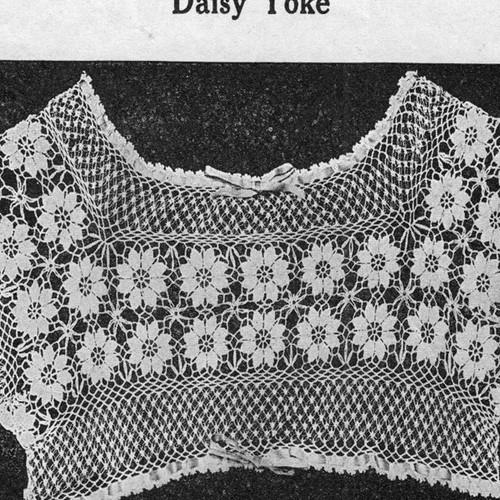 Square Crochet Daisy Collar Pattern