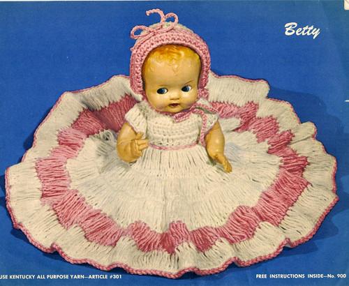 Vintage 11 inch doll crochet pattern